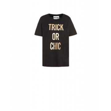 Moschino Trick Or Chic Jersey T-shirt Woman Black Size 36 It - (2 Us)