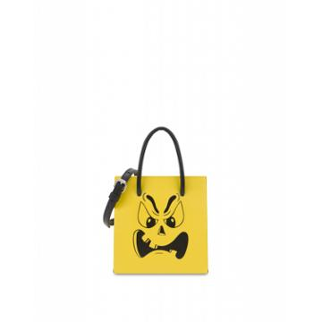 Moschino Pumpkin Face Handbag Woman Yellow Size U It - (one Size Us)