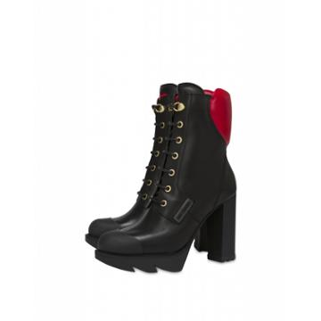 Love Moschino Endless Love Boots With Heart Woman Black Size 40 It - (10 Us)