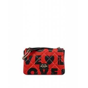 Love Moschino Quilted Shoulder Bag Love Woman Red Size U It - (one Size Us)