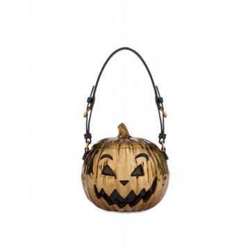 Moschino Laminated Pumpkin Bag Woman Gold Size U It - (one Size Us)