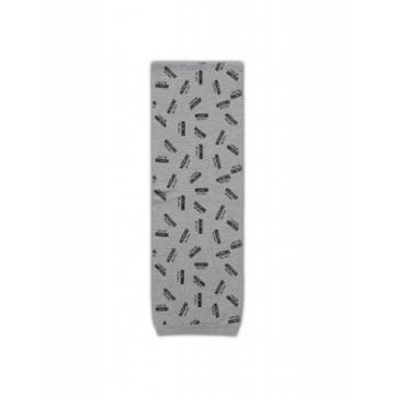 Moschino Scarf With All Over Logo Man Grey Size Single Size