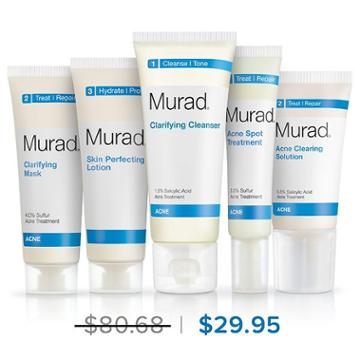 Murad Advanced Breakout Control Regimen 5-piece - 30 Day Supply - Murad Skin Care Products