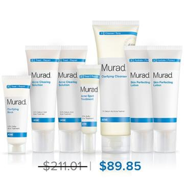 Murad Advanced Breakout Control Regimen 7-piece - 90 Day Supply - Murad Skin Care Products