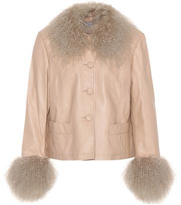 Saks Potts Shearling-trimmed Leather Jacket
