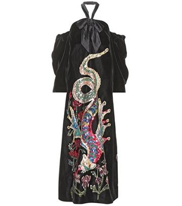 Gucci Sequinned Velvet Gown
