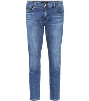Tory Burch Sadey Mid-rise Cropped Jeans