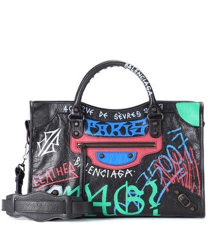 Balenciaga Classic City Graffiti Leather Tote