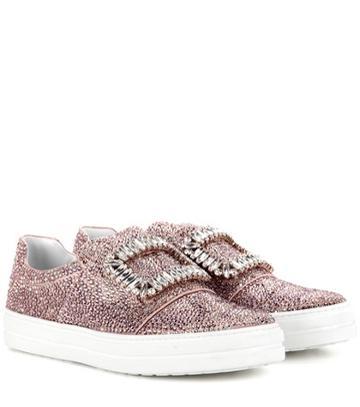 Adidas Originals Sneaky Viv Embellished Slip-on Sneakers