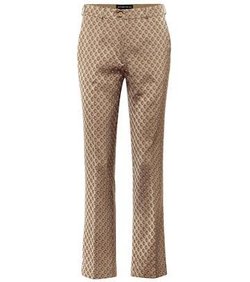 Etro Mid-rise Straight Jacquard Pants