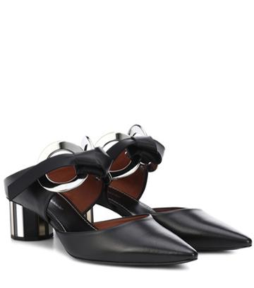 Valentino Leather Metal Ring Mules