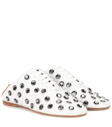 Acne Studios Mika Stone Leather Lace-up Slippers