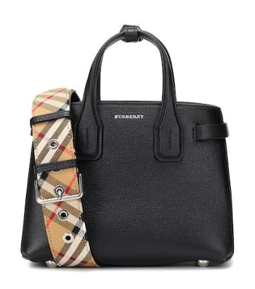 Burberry The Baby Banner Leather Tote
