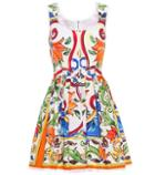 Dolce & Gabbana Sleeveless Printed Cotton Dress