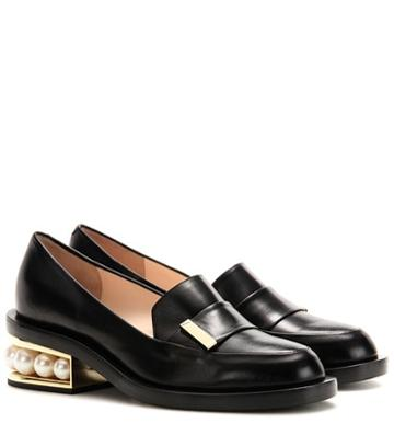 Rochas Casati Embellished Leather Loafers