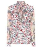 See By Chlo Printed Pussy-bow Blouse