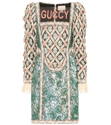Miu Miu Guccy Embellished Minidress
