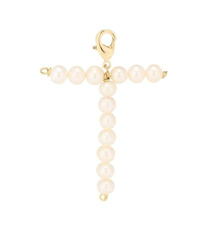 Timeless Pearly Letter T Pearl-embellished Charm