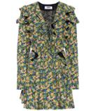 Msgm Floral-printed Cotton Minidress