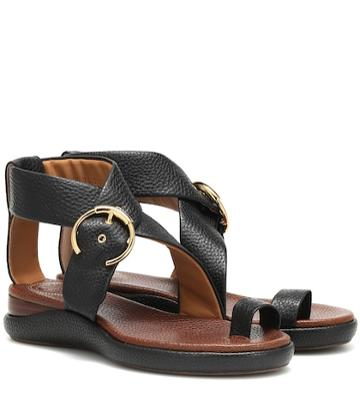 Chlo Wave Leather Sandals