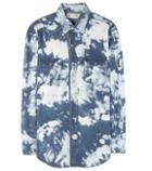 Saint Laurent Printed Cotton And Linen Shirt