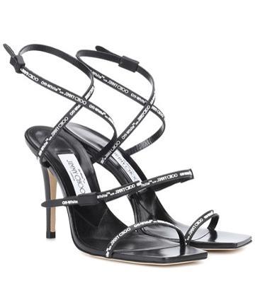 J Brand X Off-white Jane Leather Sandals