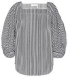 Chlo Striped Denim Top