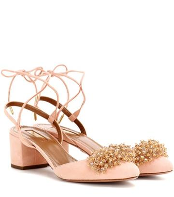Aquazzura Monaco Pump 50 Embellished Pumps