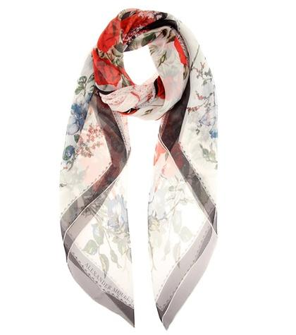 Balenciaga Patterned Silk Scarf