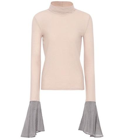 Valentino Cleo Cotton Turtleneck Top