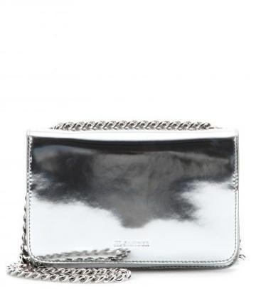 jil Sander boxy Cross-body Metallic-leather Shoulder Bag