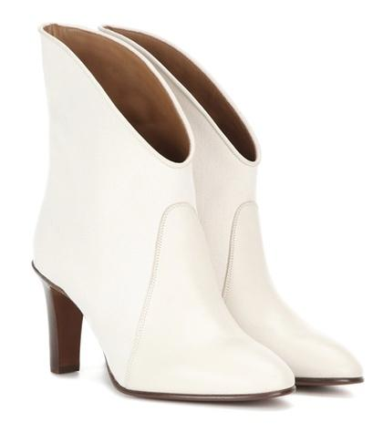 Chlo Kole Canvas And Leather Ankle Boots