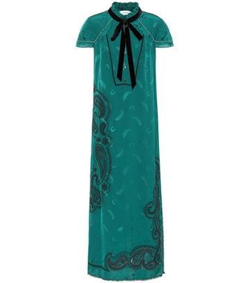 Balenciaga Embroidered Midi Dress