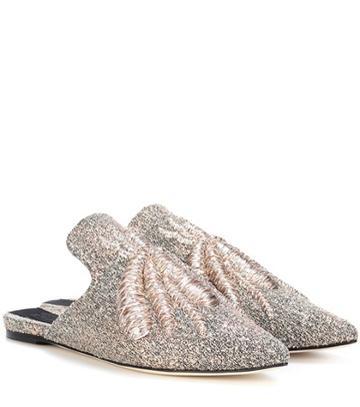 Miu Miu Ragno Embroidered Slippers