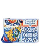 Dolce & Gabbana Printed Leather Pouch