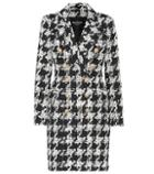 Balmain Tweed Wool-blend Coat