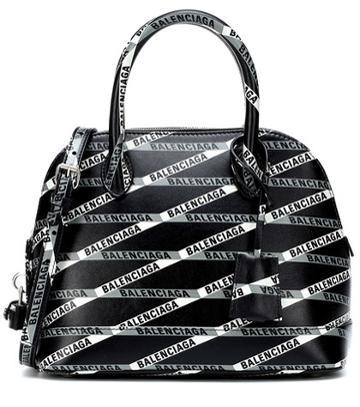 Balenciaga Ville S Monogramme Leather Tote