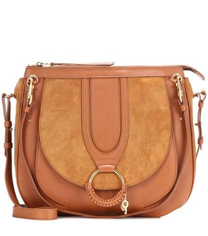 See By Chlo Hana Leather And Suede Shoulder Bag