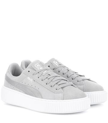 Valentino Platform Safari Suede Sneakers