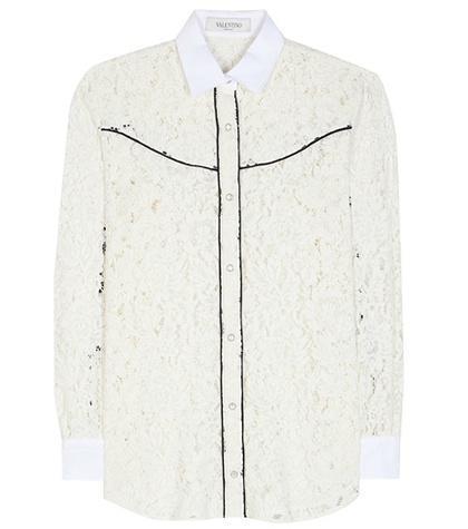 Valentino Cotton-blend Lace Shirt