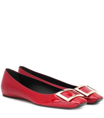 Marine Serre Belle Vivier Leather Ballet Flats