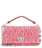 Miu Miu Plaid Cotton Shoulder Bag