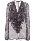 Burberry Ruffled Silk Blouse