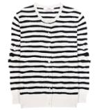 Barrie Striped Cashmere Cardigan