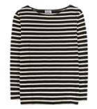 Saint Laurent Striped Cotton Top