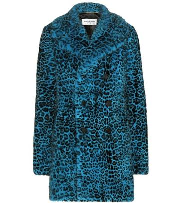 Saint Laurent Leopard-print Mink Fur Coat