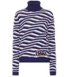 Prada Striped Cashmere Turtleneck Sweater