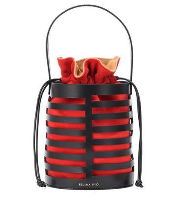 Mcq Alexander Mcqueen Erin Drawstring Leather Bucket Bag