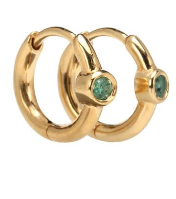Theodora Warre Emerald Success Hoop Earrings