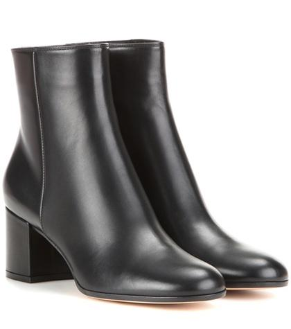 Gianvito Rossi Margaux Mid Leather Ankle Boots